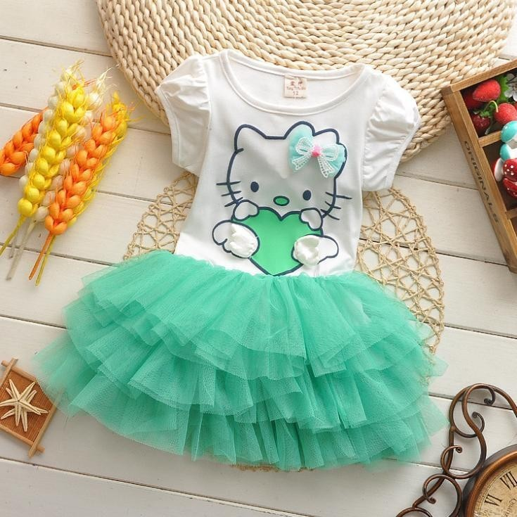 cb6d4d880 Girl children summer dress party baby girls dresses for 2-5 years ...